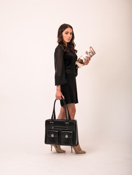 "15.6"" Leather Fly-Through™ Checkpoint-Friendly Ladies' Briefcase Mcklein Verona"