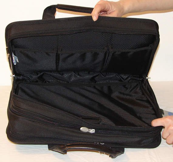 "17"" Expandable Double Compartment Laptop Case w/ Removable Sleeve Mcklein Walton"