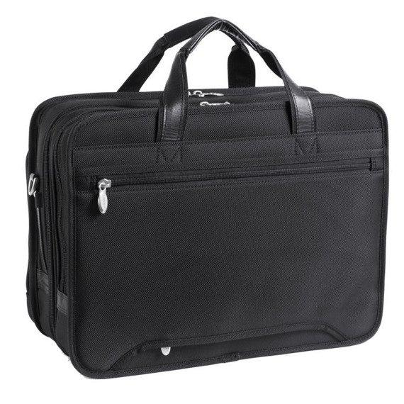 """17"""" Expandable Double Compartment Laptop Case w/ Removable Sleeve Mcklein Walton"""