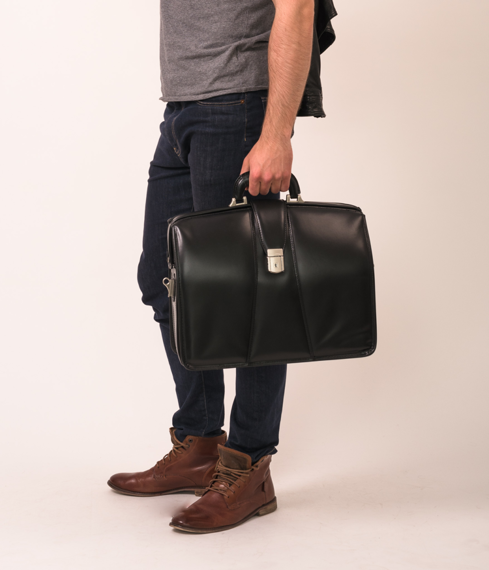 """17"""" Leather Partners Laptop Brief Mcklein Harrison"""