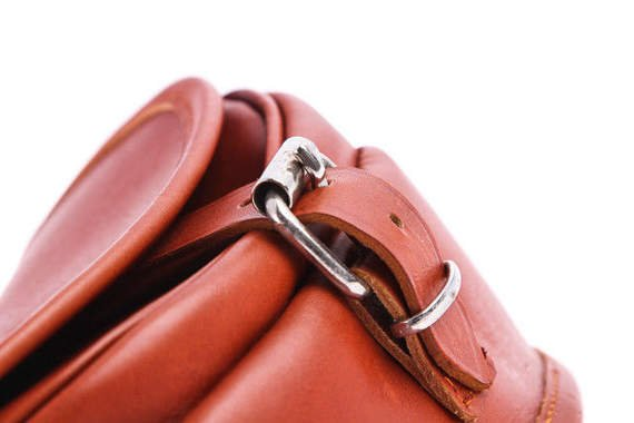 Small  leather saddle bag VOOC Vintage P14