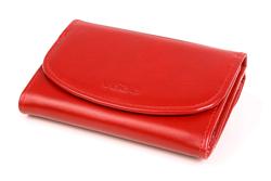 466164763cc43 Ergonomiczny portfel damski w kolorze czerwonym