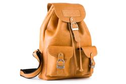 Plecak w kolorze carmel, skóra naturalna