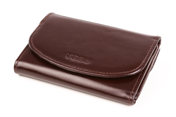0bb0999fa104e Praktyczny portfel damski o doskonałym wykończeniu, kolor: brązowy