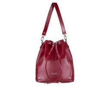 Skórzana torba damska listonoszka Nea FL19 burgundowa