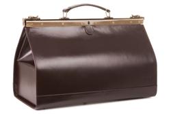Skórzany kufer, brąz
