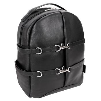 """Skórzany plecak miejski Oakland czarny ze skóry naturalnej na laptopa 15,6"""""""