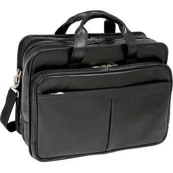 """Torba skórzana biznesowa na laptopa czarna Walton 17"""""""