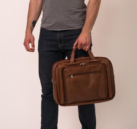 "Brązowa torba na komputer osobisty Irving Park 15,6"""