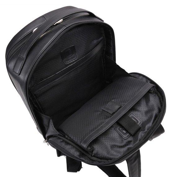Czarny plecak Parker ze skóry naturalnej na laptopa