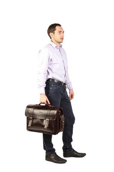 Duży skórzany kufer plecak torba natural  Vintage P23