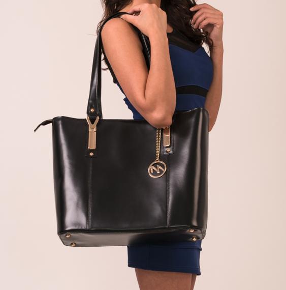 Elegancka damska torebka do pracy Savarna, granat