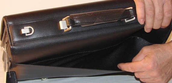 """Klasyczna męska teczka Lexington Black na laptopa 17"""""""