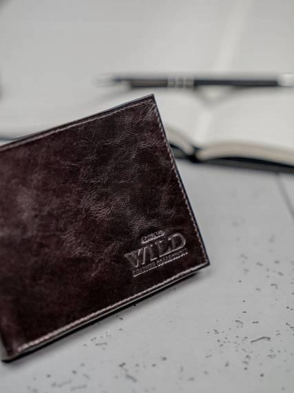 Rewelacyjny skórzany portfel męski skóra naturalna brązowy N992-VTK BROWN