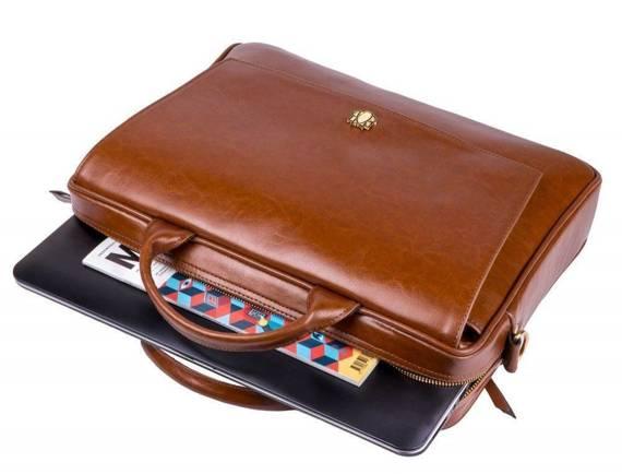 Skórzana torba na laptopa FL14 Rimini brązowy vintage Solier