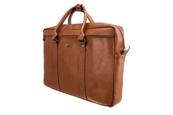 Skórzana torba na ramię laptopa 17 cali Solier SL03 KILBRIDGE Brązowy Vintage