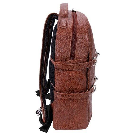 "Skórzany plecak Oakland brązowy na laptopa 15,6"""