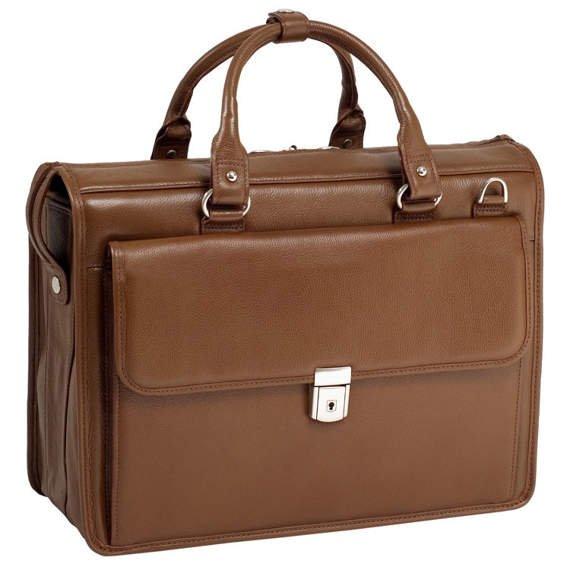 """Teczka na laptopa brązowa Gresham Brown 15,6"""""""