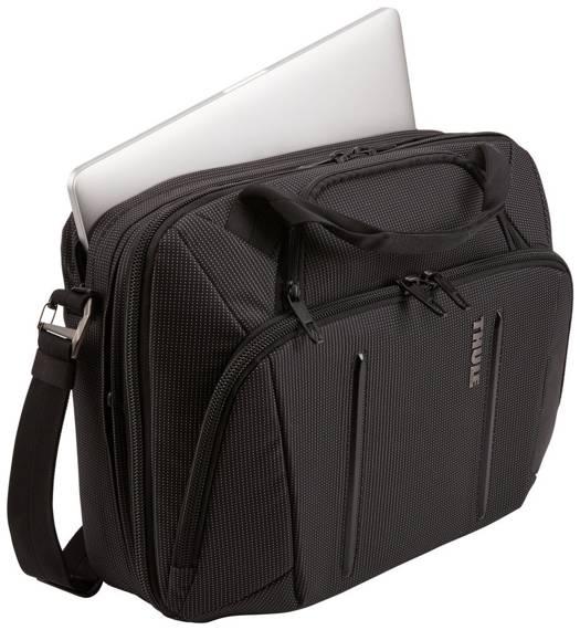 """Torba na laptopa 15,6"""" poszerzana 26 litrów Thule Crossover 2 Czarna"""
