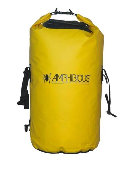 Worek sportowy wodoodporny zółty, plecak AMPHIBIOUS TUBE 40L